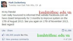 [Hot] Facebook đóng cửa vào ngày 17/08/2013??