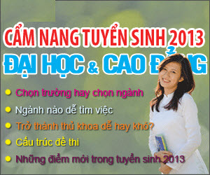 Ra mắt Cẩm nang tuyển sinh ĐH, CĐ 2013